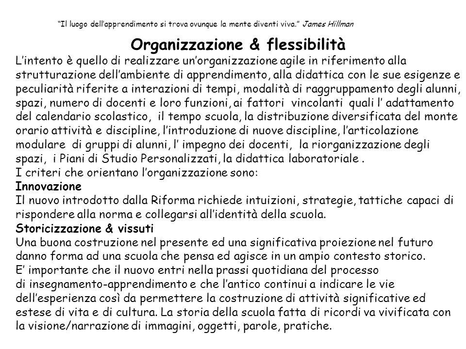 Organizzazione & flessibilità