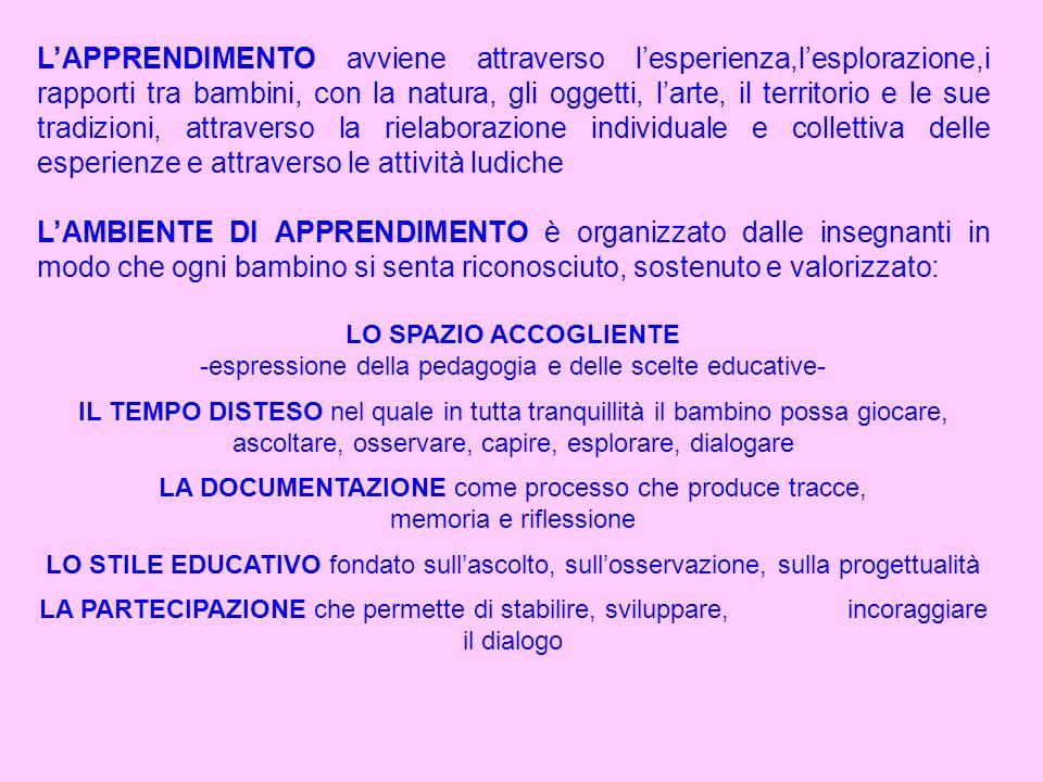 espressione della pedagogia e delle scelte educative-