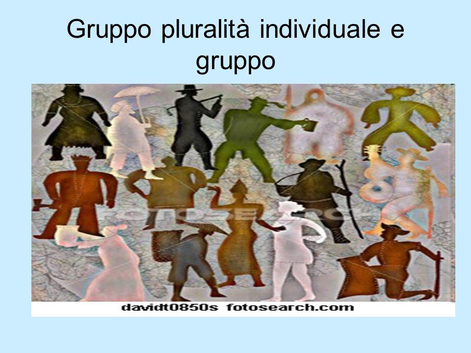 Gruppo pluralità individuale e gruppo