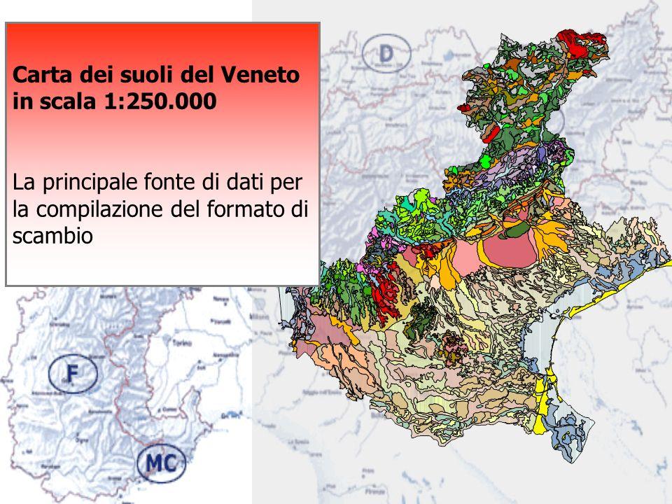 Carta dei suoli del Veneto in scala 1:250