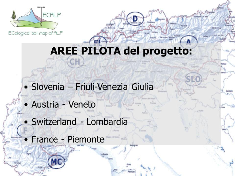 AREE PILOTA del progetto: