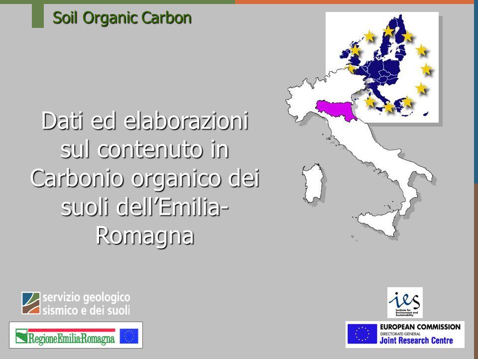 Soil Organic Carbon Dati ed elaborazioni sul contenuto in Carbonio organico dei suoli dell'Emilia-Romagna.