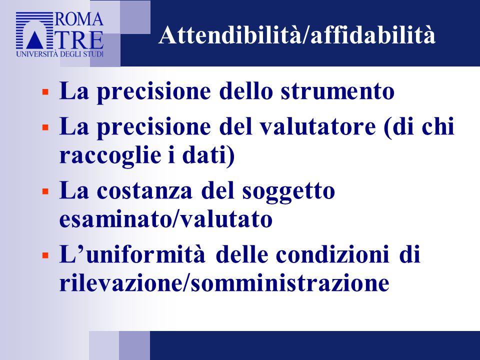 Attendibilità/affidabilità