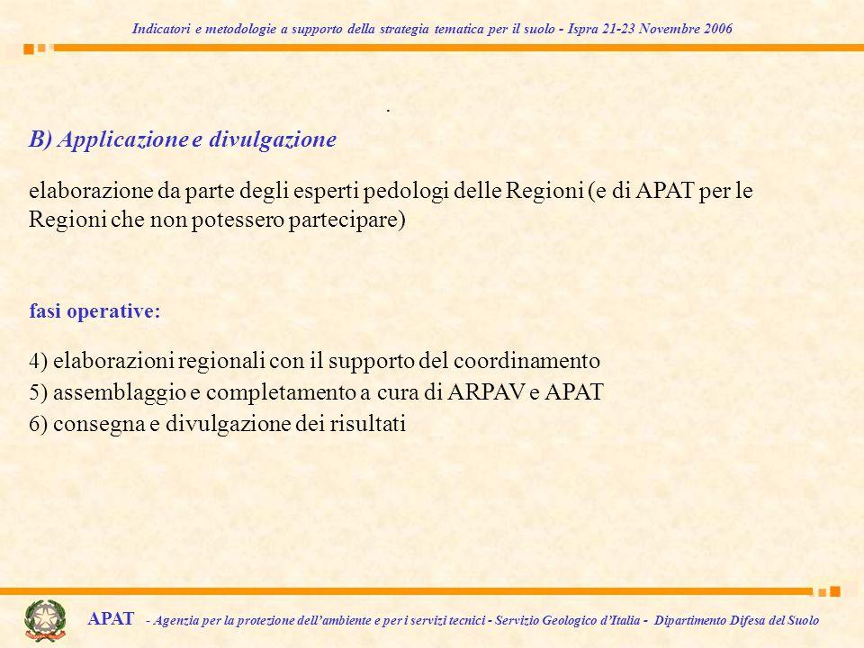 B) Applicazione e divulgazione