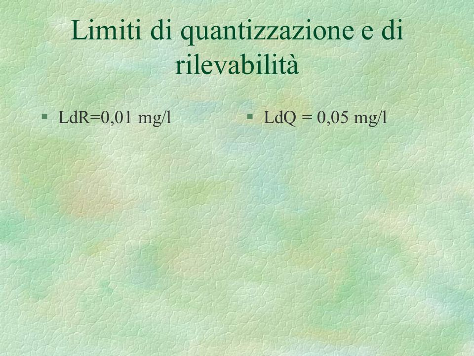 Limiti di quantizzazione e di rilevabilità