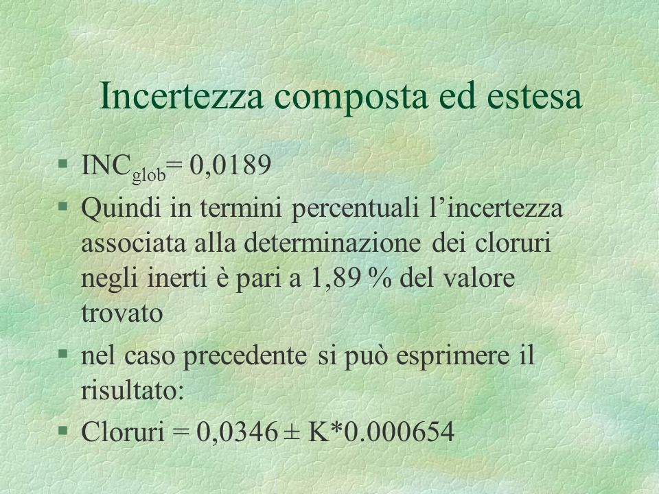 Incertezza composta ed estesa