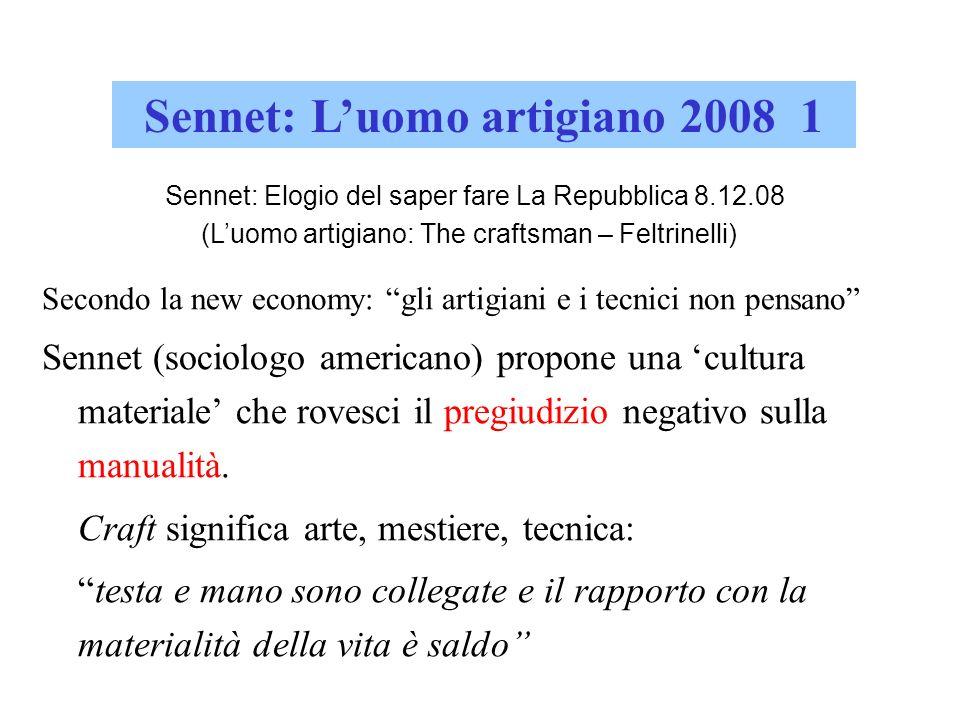 Sennet: L'uomo artigiano 2008 1