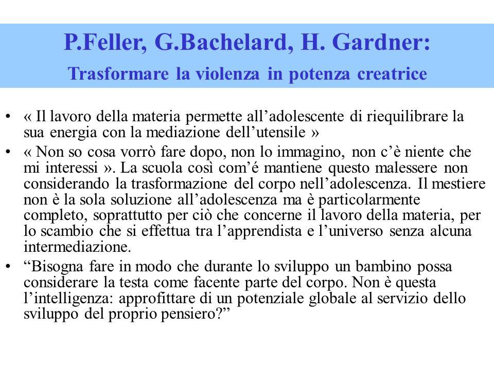 P.Feller, G.Bachelard, H. Gardner:
