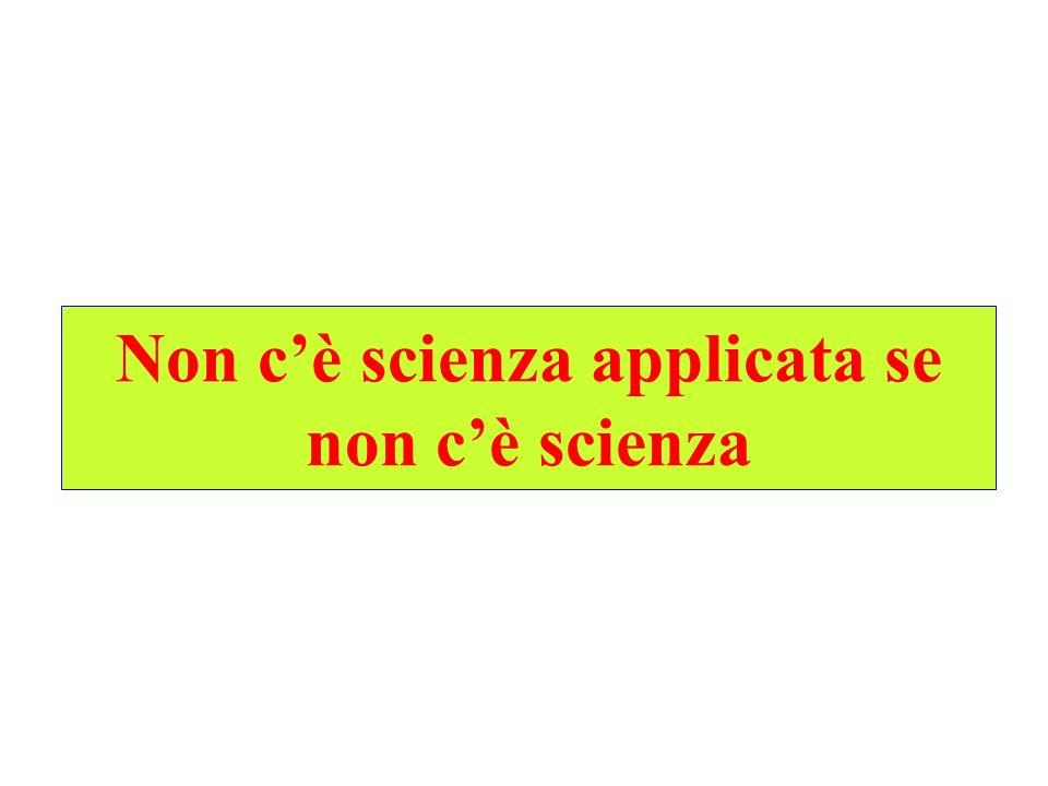 Non c'è scienza applicata se non c'è scienza