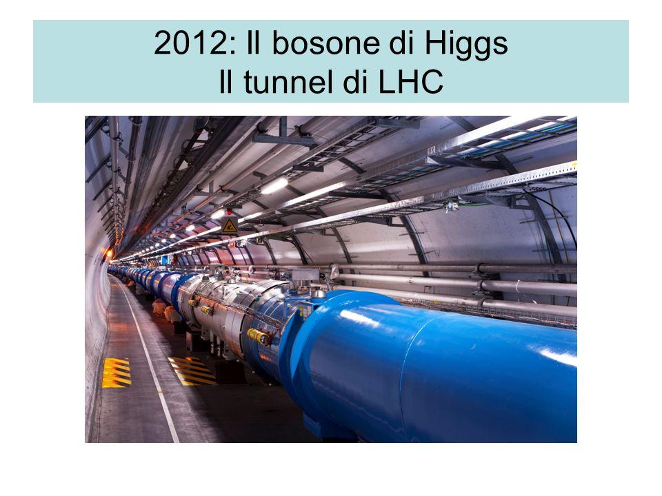 2012: Il bosone di Higgs Il tunnel di LHC