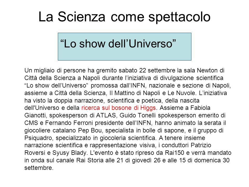 La Scienza come spettacolo
