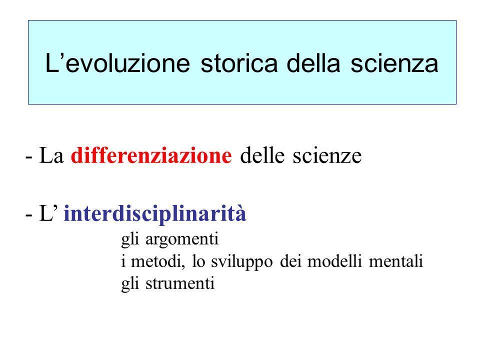 L'evoluzione storica della scienza