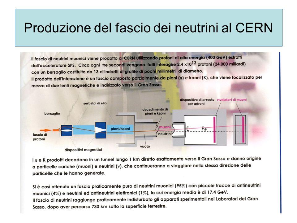 Produzione del fascio dei neutrini al CERN