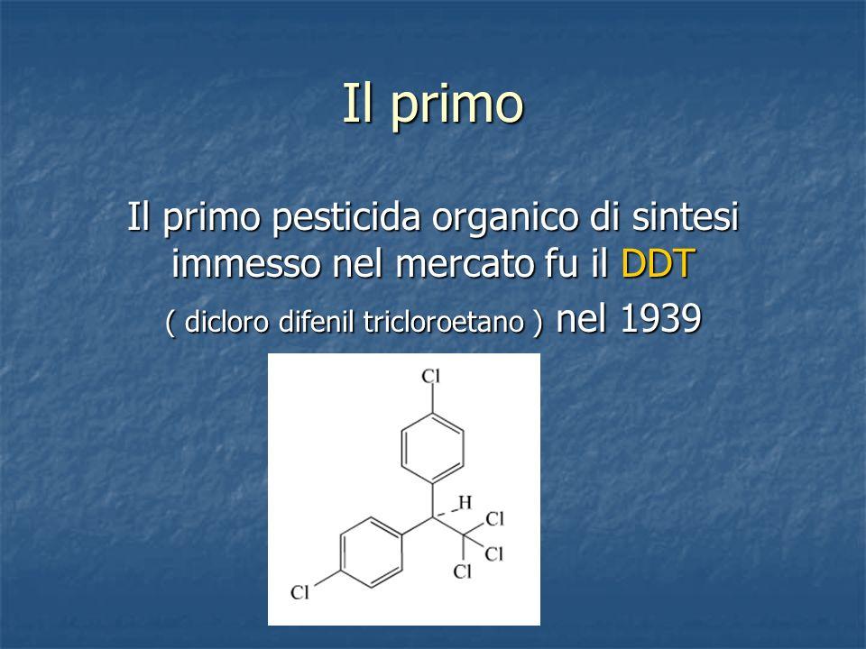 Il primo Il primo pesticida organico di sintesi immesso nel mercato fu il DDT.
