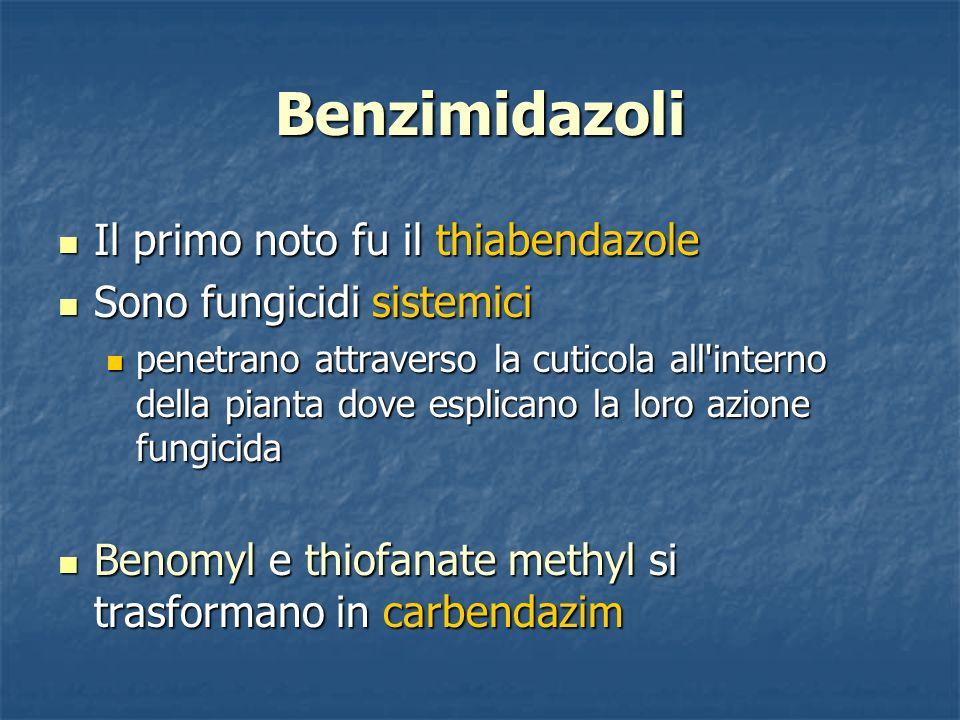 Benzimidazoli Il primo noto fu il thiabendazole