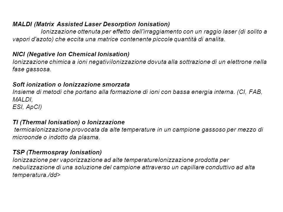 MALDI (Matrix Assisted Laser Desorption Ionisation)