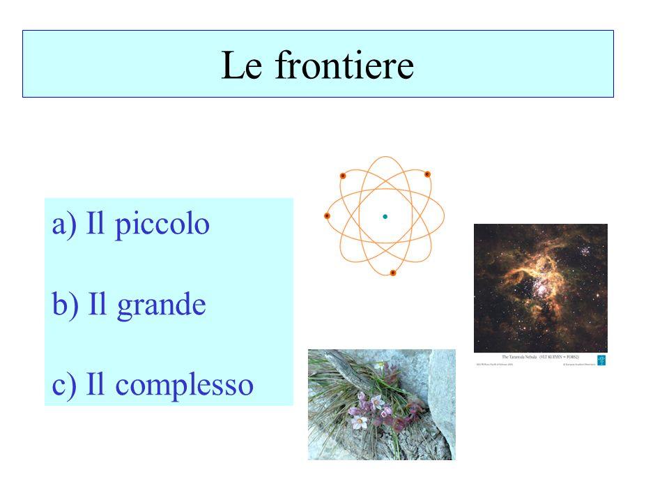 Le frontiere a) Il piccolo b) Il grande c) Il complesso