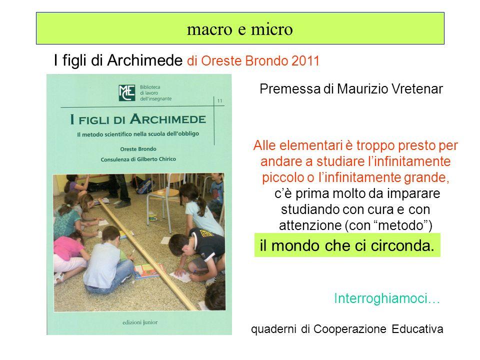 macro e micro I figli di Archimede di Oreste Brondo 2011