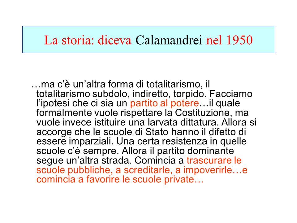 La storia: diceva Calamandrei nel 1950
