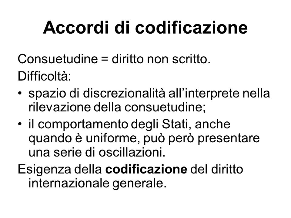 Accordi di codificazione