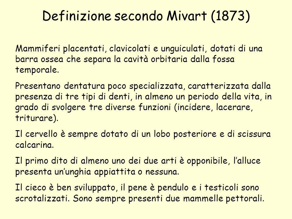 Definizione secondo Mivart (1873)