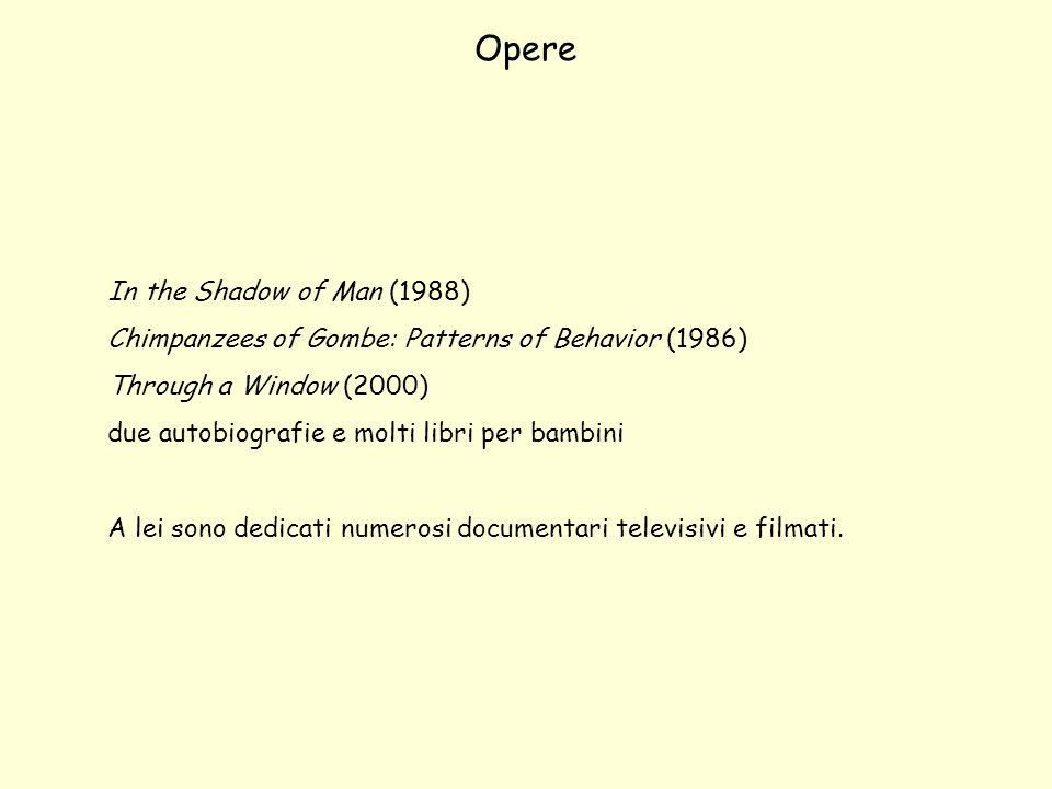 Opere In the Shadow of Man (1988)