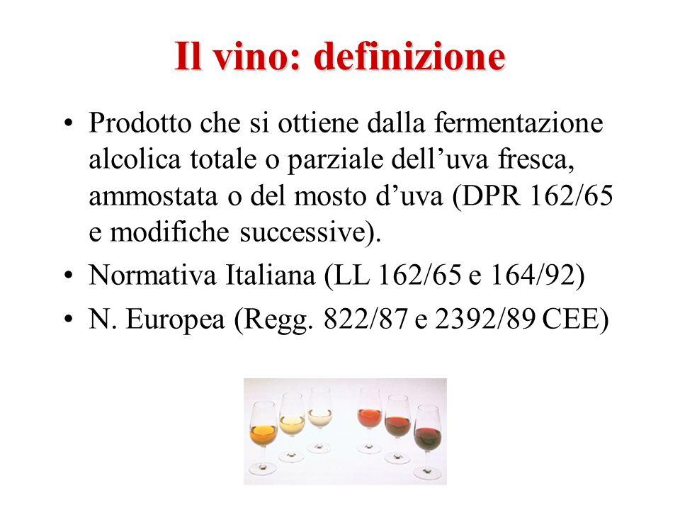 Il vino: definizione