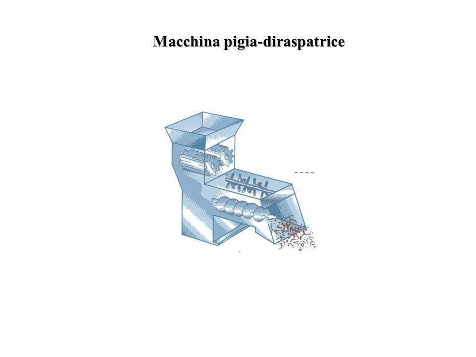 Macchina pigia-diraspatrice