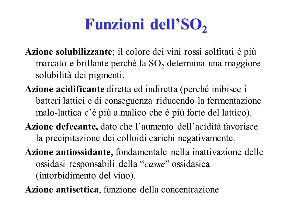 Funzioni dell'SO2