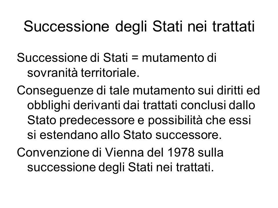 Successione degli Stati nei trattati