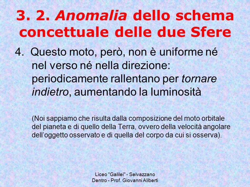 3. 2. Anomalia dello schema concettuale delle due Sfere
