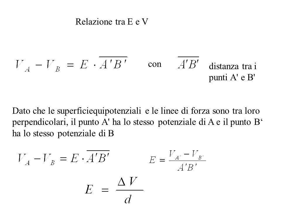 Relazione tra E e V con. distanza tra i punti A e B