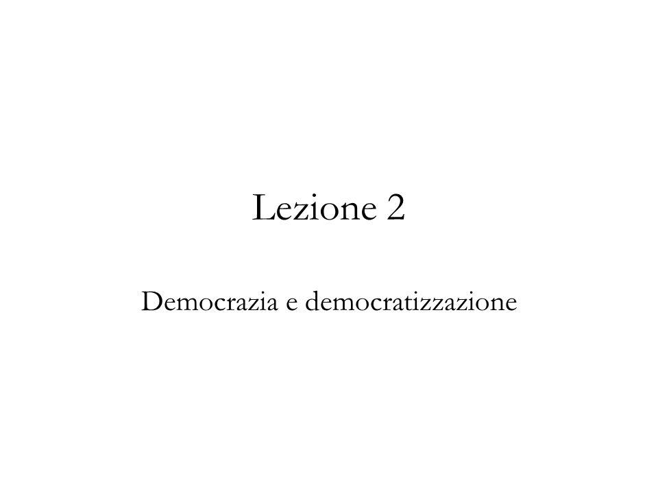 Democrazia e democratizzazione