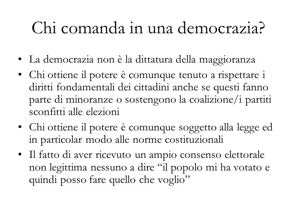 Chi comanda in una democrazia