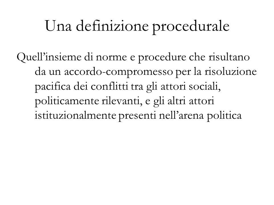 Una definizione procedurale