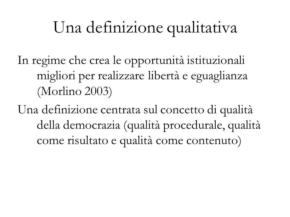 Una definizione qualitativa