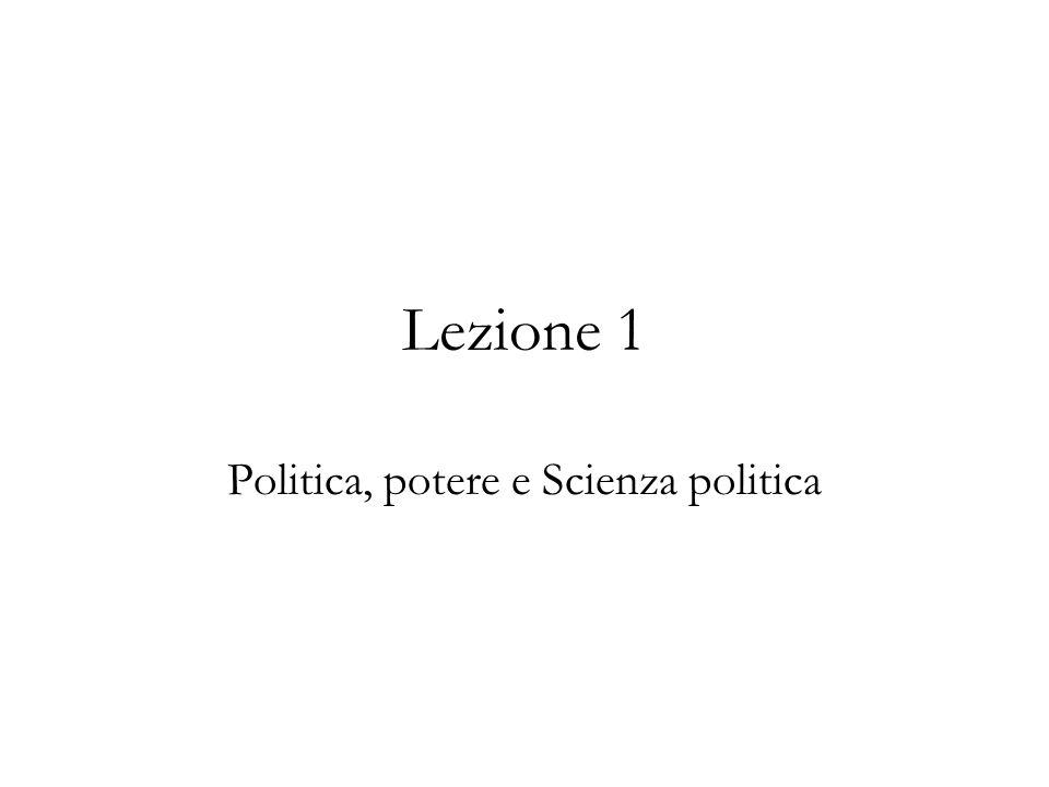 Politica, potere e Scienza politica