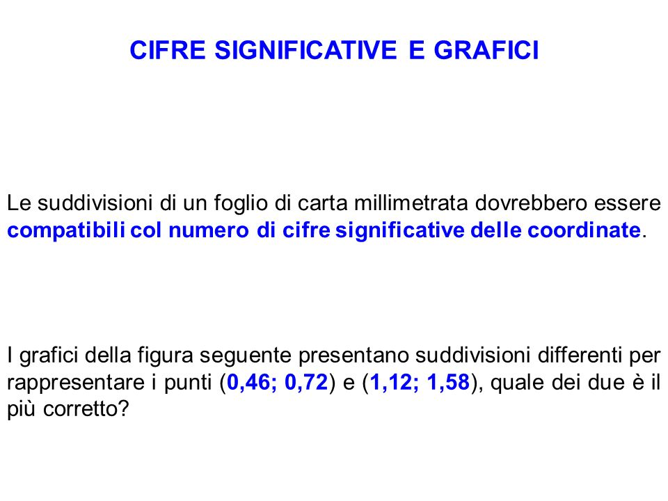 CIFRE SIGNIFICATIVE E GRAFICI