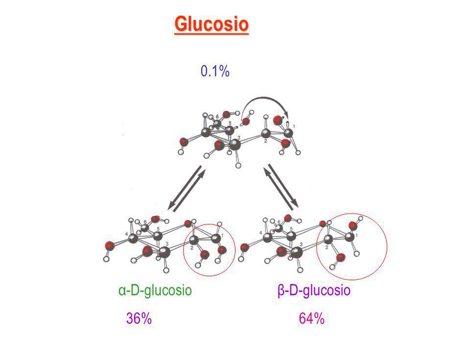Glucosio 0.1% α-D-glucosio β-D-glucosio.