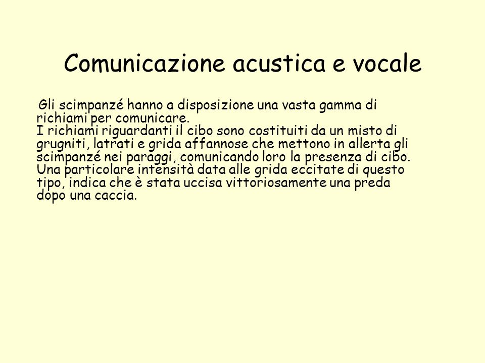 Comunicazione acustica e vocale