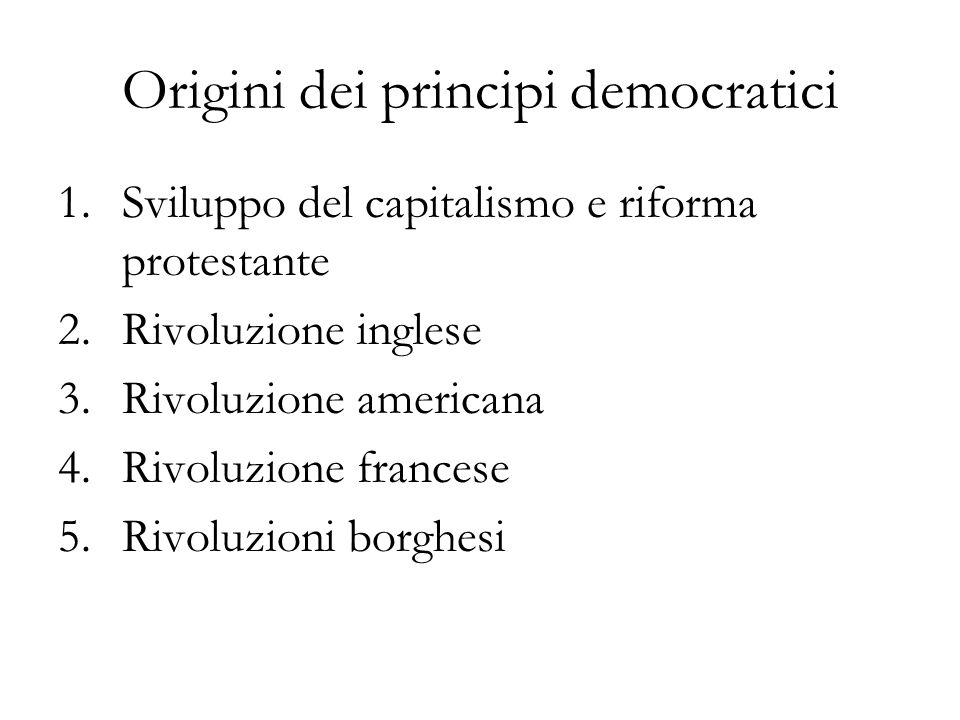 Origini dei principi democratici