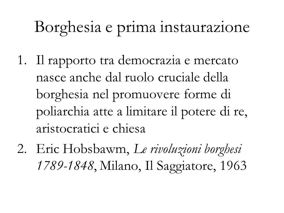 Borghesia e prima instaurazione