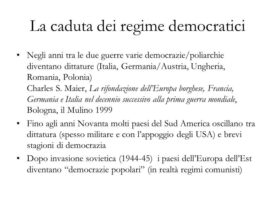 La caduta dei regime democratici