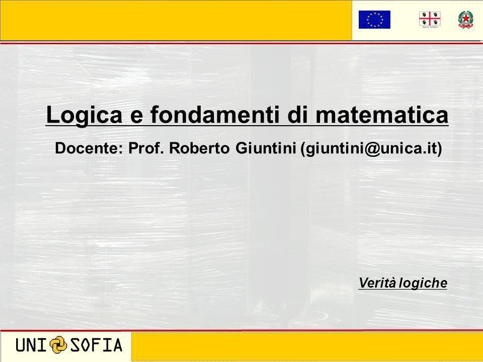 Logica e fondamenti di matematica