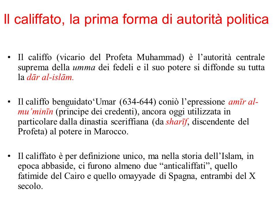 Il califfato, la prima forma di autorità politica
