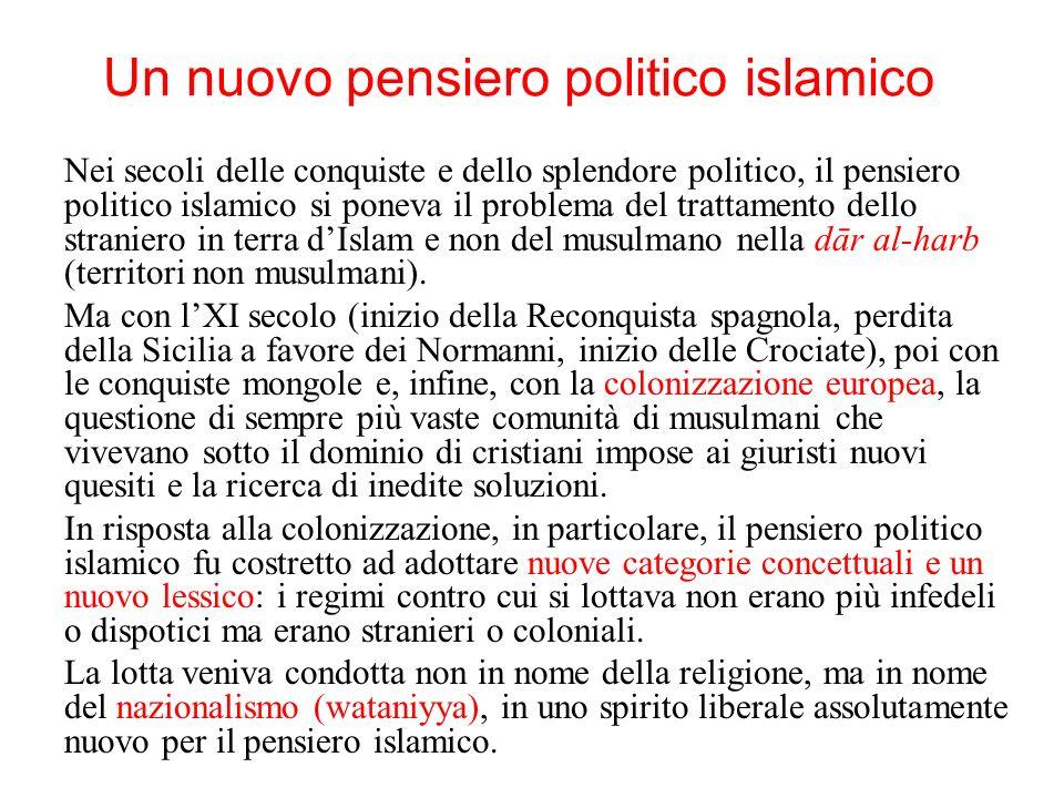 Un nuovo pensiero politico islamico