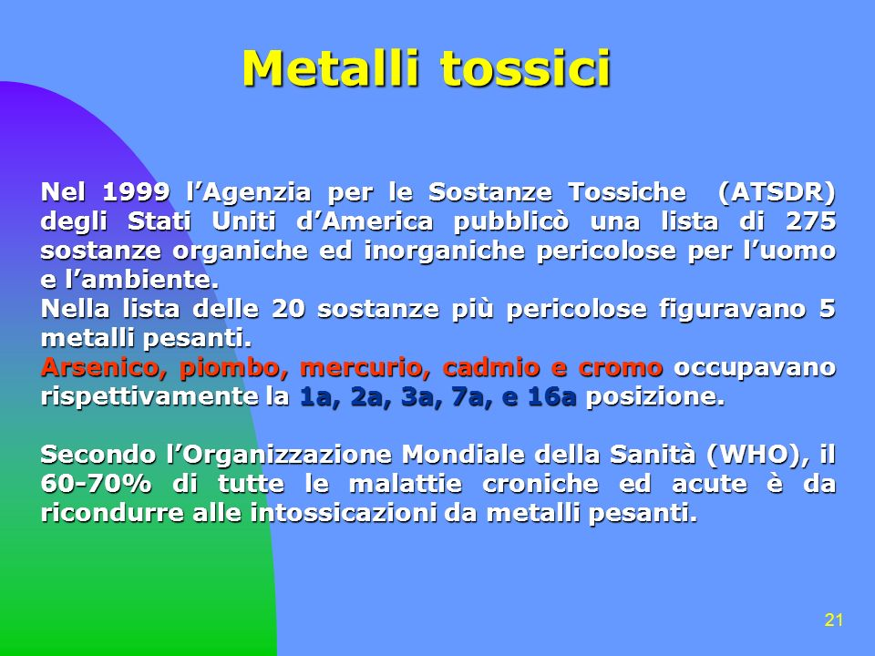 Metalli tossici