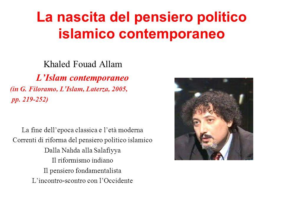 La nascita del pensiero politico islamico contemporaneo