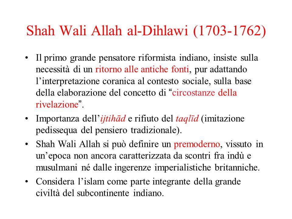 Shah Wali Allah al-Dihlawi (1703-1762)