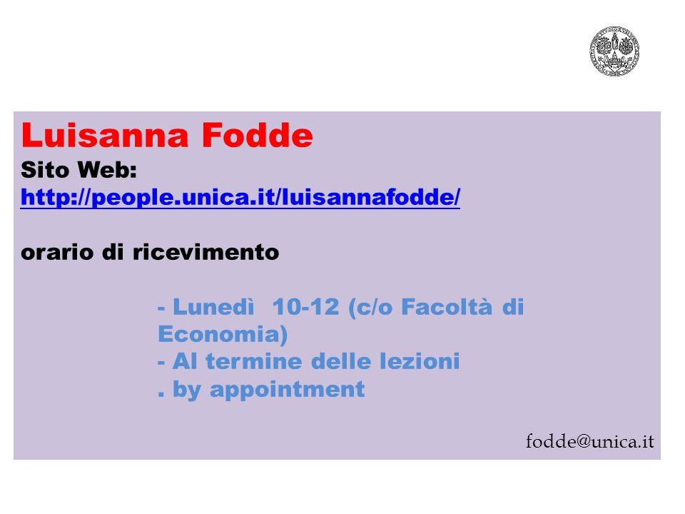 Luisanna Fodde Luisanna Fodde Sito Web: